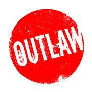 Outlaw rubber stamp Stock Illustration