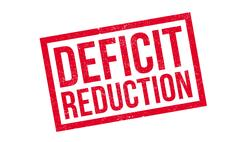 Deficit Reduction rubber stamp Stock Illustration
