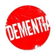 Dementia rubber stamp Stock Illustration