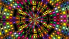 Fast Bright Light Disco Mosaic Kaleidoscope  -   Abstract  Video Footage Stock Footage