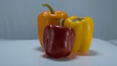 Colorful bell pepper Stock Footage