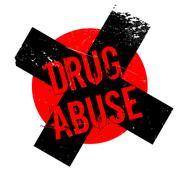 Drug Abuse rubber stamp Stock Illustration