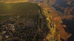 Aerial Arizona Grand Canyon September 2016 4K Stock Footage