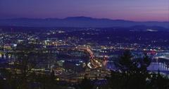 Portland oregon i5 traffic timelapse wide Stock Footage
