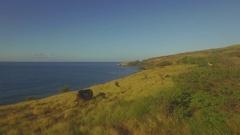 Maalaea Rocky Coastline Jib Up Stock Footage