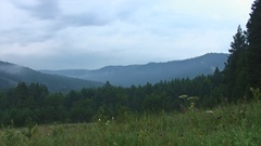 Southern Ural - view on the mountains - Southern Ural - overcast Stock Footage