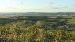 Tratau - view from the mountain - evening Stock Footage