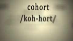 Definition: Cohort Stock Footage
