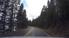 Timelapse hyperlapse of driving around forestd and fields, in Yellowstone n.. Stock Footage