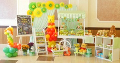 Candy bar on children's birthday party Stock Footage