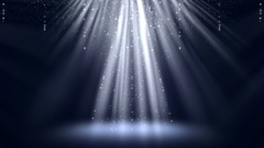 Magic Light Rays with Particles Animation Background. Stock Footage