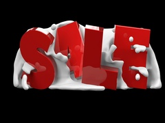 Sale text for promotion on black background. Alpha channel. Stock Footage