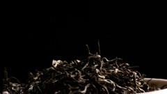 Fall leaves dried tea Stock Footage