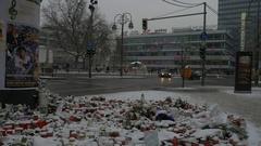 Germany, Berlin, Breitscheidplatz, January 8, 2017 41 Stock Footage
