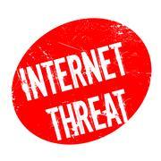 Internet Threat rubber stamp Stock Illustration