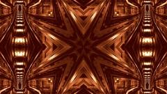Kaleidoscope shot of the metro subway in Turin Stock Footage