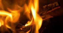 Beautiful Campfire, Bonfire Closeup Stock Footage