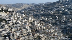 Village of Siloam, Jerusalem, Israel Stock Footage