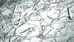 Broken and damaged glass slow motion. Alpha matte Stock Footage