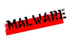 Malware rubber stamp Stock Illustration