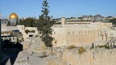 Al-Aqsa Mosque, Jerusalem, Israel, Asia. Stock Footage