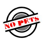 No Pets rubber stamp Stock Illustration