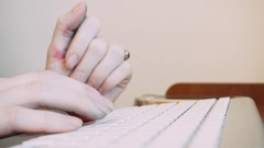 Print the artist's hand on the keyboard.The creative and the Internet Stock Footage