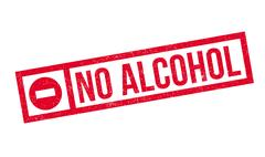 No Alcohol rubber stamp Stock Illustration