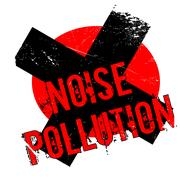Noise Pollution rubber stamp Stock Illustration