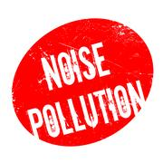 Noise Pollution rubber stamp Piirros