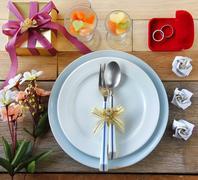 Valentine Abstract with Souvenir Wedding Stock Photos