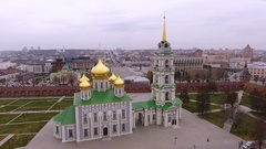 The places of Tula. The Tula Kremlin. The Cathedral of the Assumption. Russia 4K Stock Footage