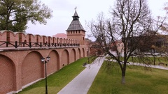 The Tula Kremlin. Aerial views of the places of Tula. Russia. 4K Stock Footage