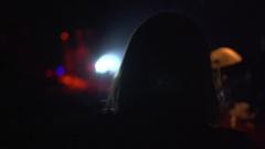 Girl Walking Towards Stage Stock Footage