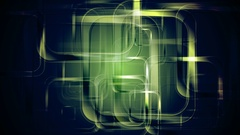 Green glossy squares abstract geometric motion design Stock Footage