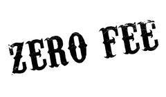Zero Fee rubber stamp Stock Illustration