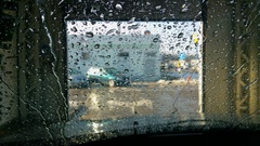 Car washing, view from inside Stock Footage