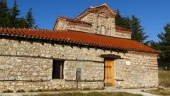 St. Demetrius church in Ohrid Stock Footage