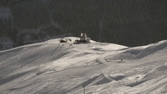 Cable car station on a slope Stock Footage