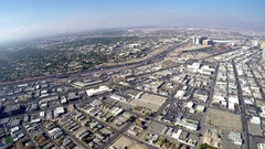 Aerial timelapse video of the city and the freeway, from the stratosphere t.. Stock Footage