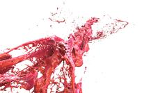 Liquid explosion into one splash 3d illustration Stock Illustration