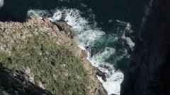 Dolerite columns of Cape Raoul Stock Footage