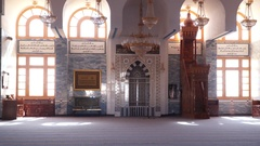 The interior Great Mosque in Sharm el-Sheikh Stock Footage