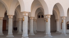 Arches and columns Great Mosque in Sharm el-Sheikh Stock Footage