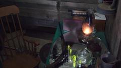 Cowboy Western, shotgun shells on the table Stock Footage