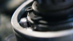 4k, metal bearing rotation, close-up 2 Stock Footage