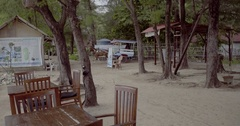 Horse carrige on Gili Meno Stock Footage