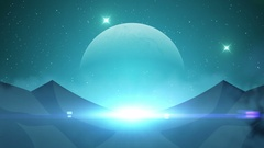 Science fiction planet seamless loop, sci-fi animated background Arkistovideo