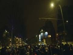 Protesters anti-corruption march in Bucharest, Romania Stock Footage
