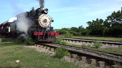 American origin Steam locomotive (Baldwin №1429) in Cuba. Stock Footage